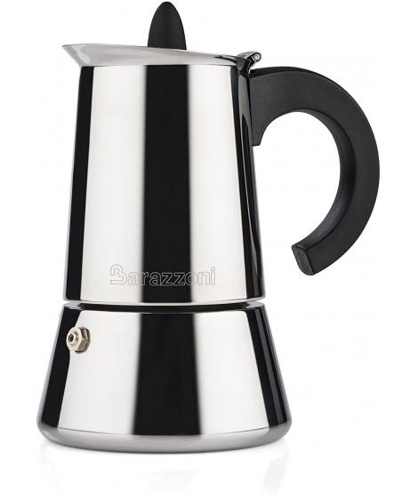 BARAZZONI CAFFETTIERA INOX IN ACCIAIO 6/3 TAZZE