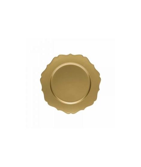 SET 6 SOTTOPIATTI TABLEMAT LEA GOLD CM 33